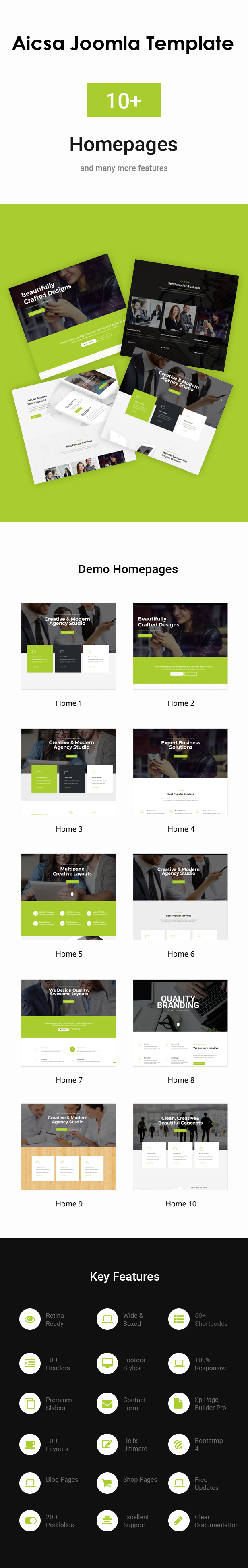 Aicsa - Responsive Multipurpose Joomla Website Template - 2